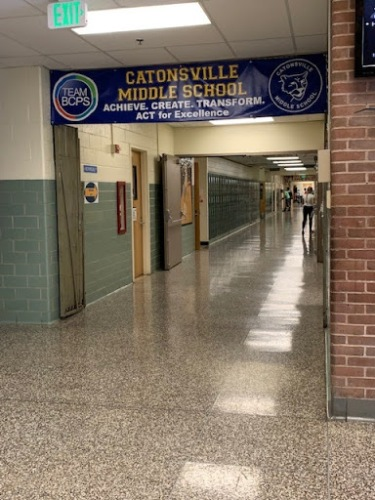 Scenes from Catonsville Middle School in Baltimore County Public Schools